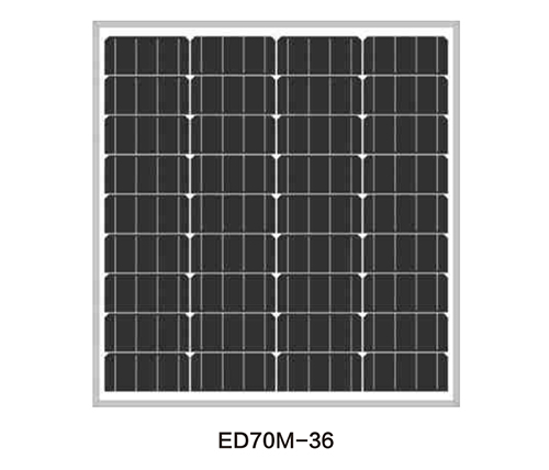 Solar Panels for Solar Pump-ED70M-36